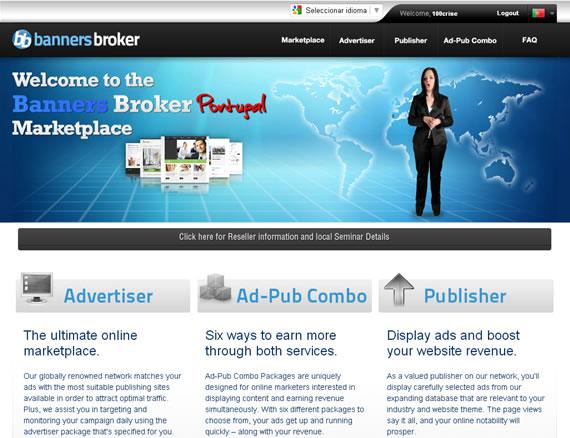 Banners Broker – rentabilidade inovadora, impossível não ganhar dinheiro!