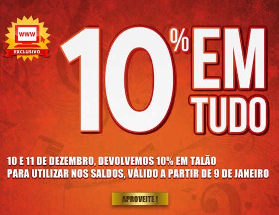 Campanha 10% Worten dias 10 e 11 Dezembro 2012