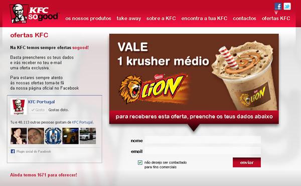 oferta-gelado-kfc-gratis