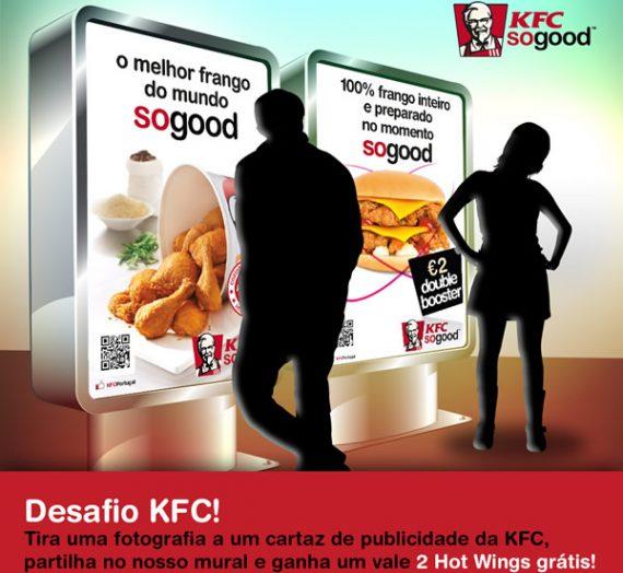 Desafio passatempo KFC, e ganha 2 Hot Wings grátis!