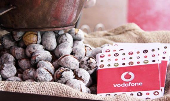 Vodafone oferece castanhas assadas no Porto e Lisboa