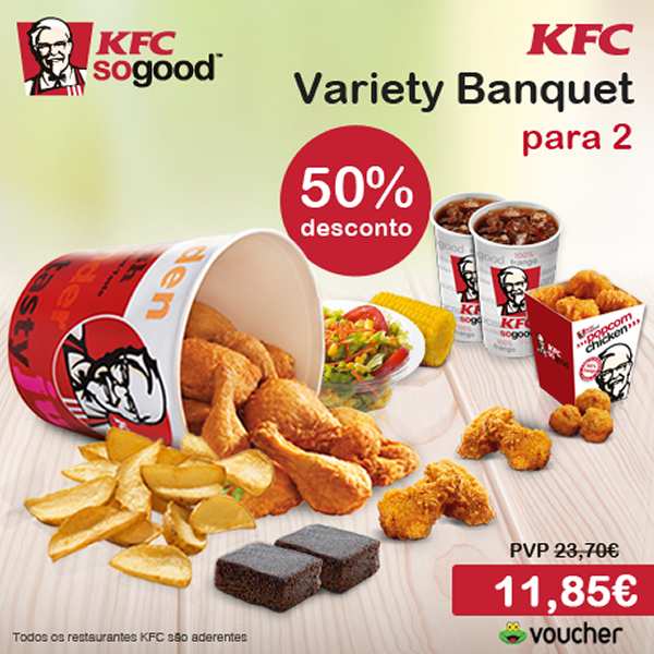 KFC Variety Banquet para 2 pessoas