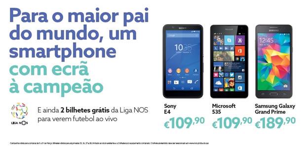 Campanha NOS: Dia do Pai com smartphones de 5''