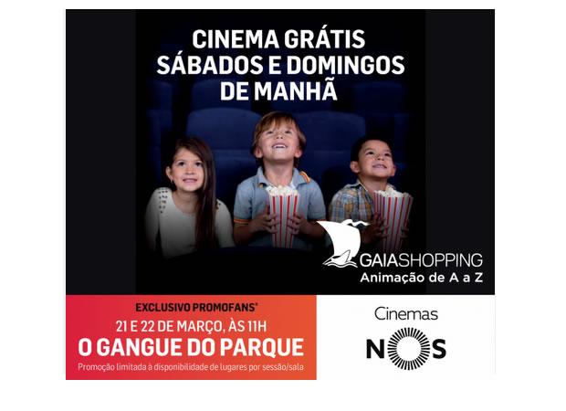 Sessão de Cinema NOS Infantil Grátis