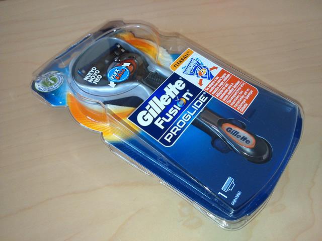 Recebi amostra grátis Gillette Fusion Proglide