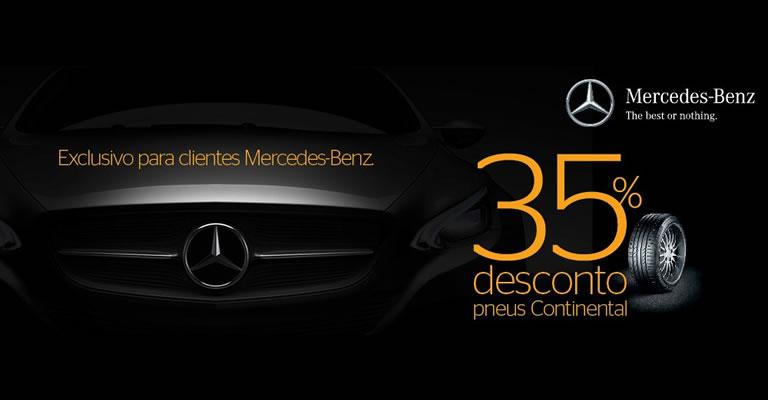 Desconto Pneus Continental para clientes Mercedes Benz
