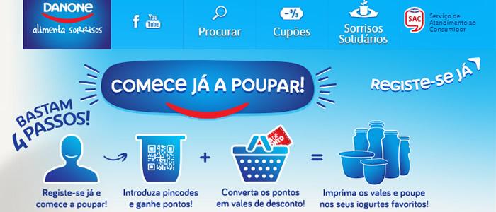 Poupe até 50 euros nos produtos Danone Alimenta Sorrisos