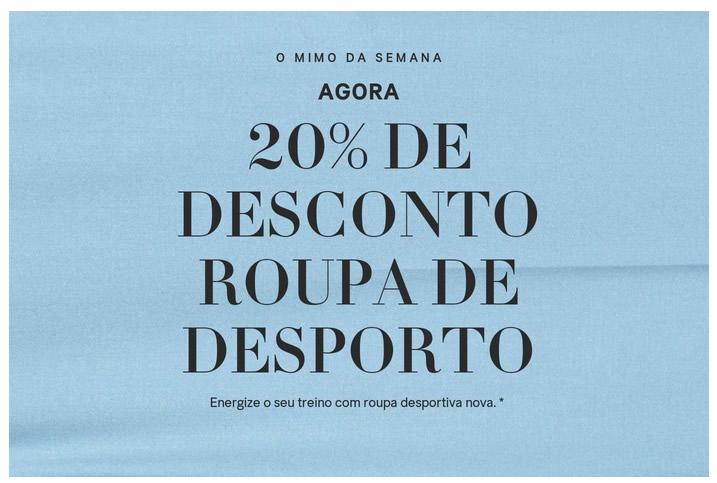 Descontos 20% nas lojas H&M até 14 Janeiro 2018