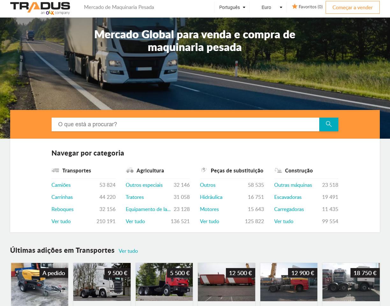 Tradus-website